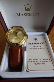 Maserati - Movement watch for ladies in steel with metal band - 1989