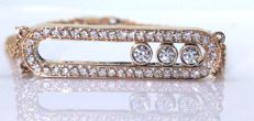 Bracelet with 47 moving diamonds of 0.70 ct in total - Length 17.50 ctm ###Comes with a jewellery certificate ###Free shipping###