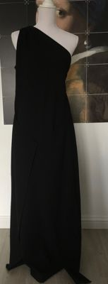 Yves Saint Laurent-long one shoulder dress