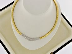 18 kt gold jewellery necklace with Diamonds - 43 cm