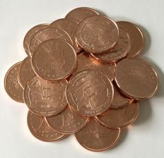 "USA: 20 x 1 oz copper coin ""trade dollar"""