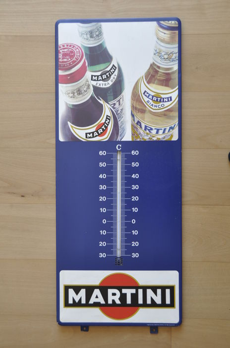 Metal sign thermometer - MARTINI - circa 1960