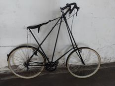 Pedersen bicycle with black leather saddle, brand Pedersen Denmark
