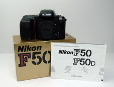 Nikon F-50 with body cap In original box with manual