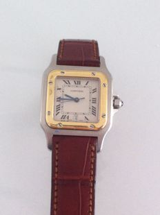 Cartier Santos with date, women's
