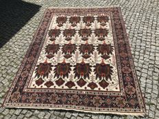 Unique Old PERSIAN Afshar RUG Hand knotted 224x155 cm