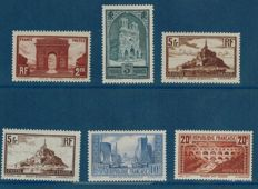 France 1929/1931 - Sites and monuments - Yvert numbers 258 to 262