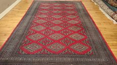 Magnificent Bukhara Carpet from Pakistan - Hand-knotted - 290/190 cm - Very good condition.