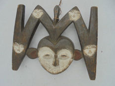 Very old KWELE or KWELLE Mask - Gabon