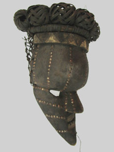 Very old SALAMPASU Mask - Congo