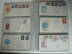 The Netherlands 1954/1963 - collection of FDCs between NVPH E16 and E61
