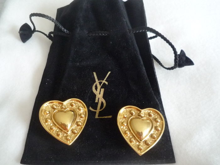 Yves Saint Laurent - Heart-shaped earrings
