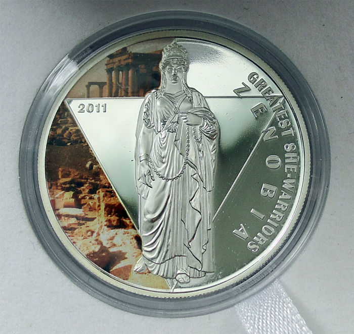 ZENOBIA Greatest She Warriors Silver Coin Togo 2011