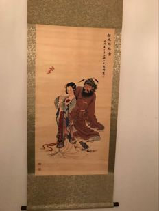 A scroll with figure's - China - late 20th century
