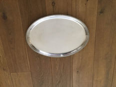 Silver plated serving tray, second half 19th century, probably Dutch