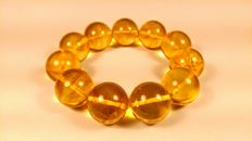 Round beads modified Honey colour Baltic Amber Bracelet