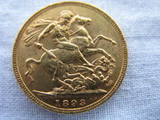 Great Britain – Sovereign 1893 – Victoria – Gold