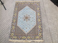 Lovely antique Oriental Moroccan Rabat Carpet, handmade, 198 x 290 cm