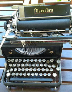 Mercedes Express S6 typewriter - ca. 1945