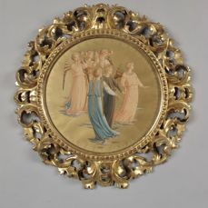 A carved gilt wood picture/mirror frame - Italy - circa 1900