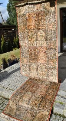 LUXURIOUS NATURAL SILK QOM RUNNER 360/94 CM