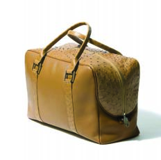 Bangu –  Travel bag with genuine ostrich skin *** No reserve price ***