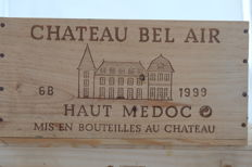 1999 Chateau Bel Air, Haut-Medoc Cru Bourgeois, France - 6 Bottles in OWC.
