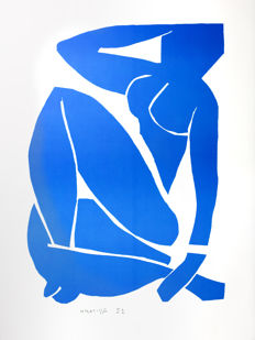 Henri Matisse (after) - Nu Bleu III (Blue Nude III)