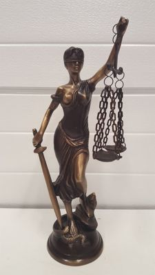 Bronze sculpture of Lady Justice