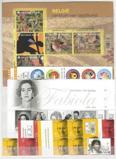 Belgium 2015 – Complete year with stamps, blocks, booklets with stamps from blocks and booklets