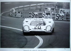Gulf Porsche 917K #20 - Steve McQueen - Le Mans Film 1971 - Great Photo Print