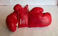 Boxing - 2 boxing gloves - Signed with signature of multiple boxing champion Arnold VanderLyde - 1994.