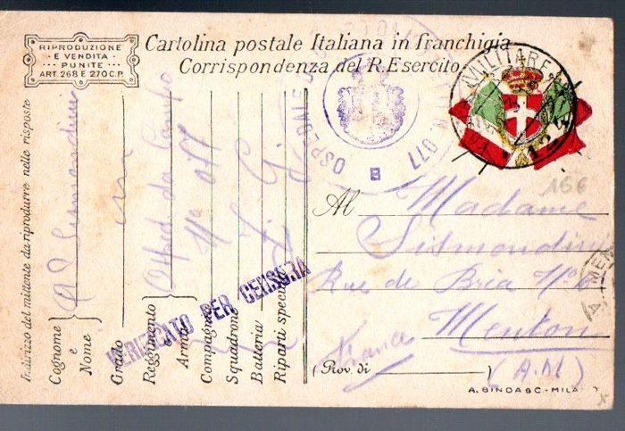 italy – military post – lot of 17 postal cards and 9 letters from