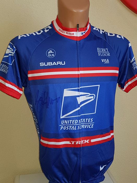 Lance Armstrong - US Postal Jersey - hand-signed + COA.