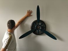 92 cm wall clock propeller - quartz drive - includes new battery