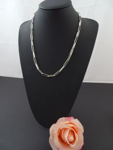 Silver 925k Charm link necklace 56 cm