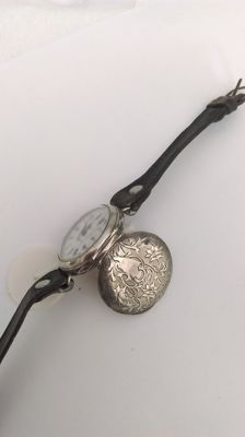 Polius Marriage Watch - pocket watch transformed into wristwatch circa 1900