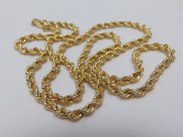 18 kt Gold Necklace Cord style – 60.5 cm