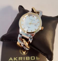 Akribos XXIV Impeccable Diamond - Swiss quartz, inlaid with 23 small diamonds - in original box with papers - 2017 - never worn