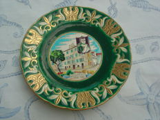 The enamels of Longwy - plate signed in the hollow - Napoleon's house decoration - created by Mignon
