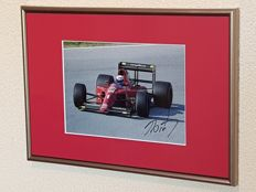 Alain Prost - 4x world champion Formula 1 - hand autographed framed photo + COA
