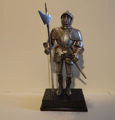 Silver knight sculpture, Germany, ca. 1890