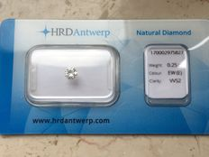 0.25 ct brilliant cut diamond - E VVS2