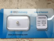 0.25 ct brilliant cut diamond D VVS2