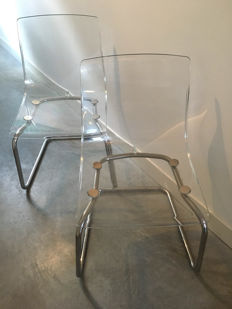 Carl Ojerstam for IKEA - Plexiglass chair ( 2x )