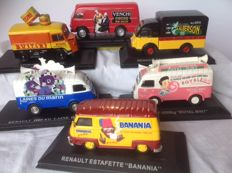 Altaya - Scale 1/43 - Lot of 6  advertising vans (Tour de France)