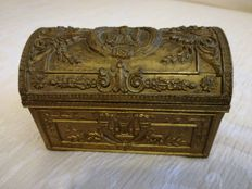 Napoleonic-style brass case - approx. 1900