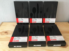 Alessi 48 - piece (12 person) cutlery set Nuovo Milano Ettore Sottsass 12 sets new in box