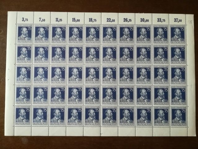 Germany -- Gemeinschaftsausgaben 1947 Michel  n. 963 964 complete sheets with plate number 3 over 964