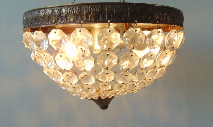 Kristallen Plafonniere : Crystal ceiling lamp. 1960 the netherlands. catawiki